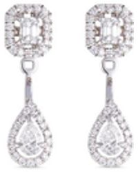 Messika | 'my Twin Toi & Moi' Diamond 18k White Gold Earrings | Lyst