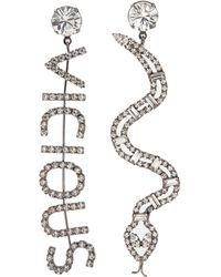 ad82e1d16 Joomi Lim - 'vicious Cobra' Mismatched Swarovski Crystal Slogan Earrings -  Lyst