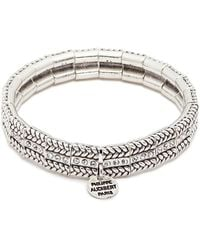 Philippe Audibert - 'fillian' Swarovski Crystal Braid Effect Elastic Bracelet - Lyst