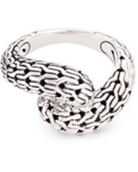 John Hardy - Silver Chain Effect Bypass Ring - Lyst