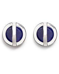 W. Britt - 'cross Circle' Inset Lapis Earrings - Lyst