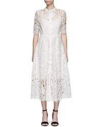 Temperley London - 'berry' Ribbon Tie Patchwork Guipure Lace Dress - Lyst