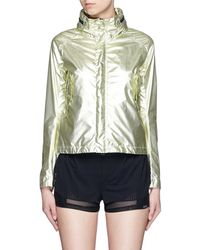 Haus By Golden Goose Deluxe Brand - 'k-way Haus Catrine' Concealable Hood Metallic Windbreaker Jacket - Lyst
