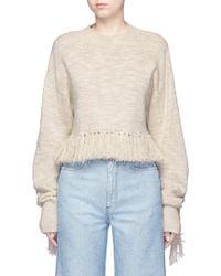 Mame - Fringe Wool-silk Jumper - Lyst
