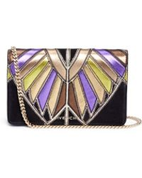 Givenchy - Pandora' Egyptian Wing Patchwork Leather Chain Wallet - Lyst