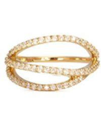 Phyne By Paige Novick - Lily' 18k Gold Diamond Pavé Curved Line Ring - Lyst