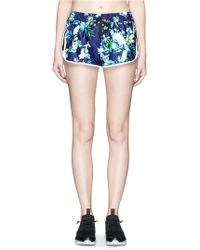 We Are Handsome - 'the Dalliance' Print Drawstring Running Shorts - Lyst