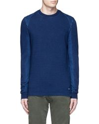 Denham - Top Stitch Harness Sweatshirt - Lyst