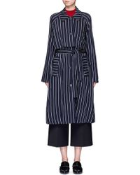 Trademark - Stripe Wool Blend Trench Coat - Lyst