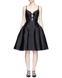 Chictopia - Bow Front Puffed Godet Dress - Lyst