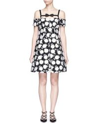 Chictopia - Floral Jacquard Off-shoulder Dress - Lyst