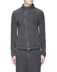 The Viridi-anne - Textured Cotton Zip Jacket - Lyst