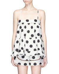 Nicholas - Polka Dot Print Cotton-linen Camisole - Lyst