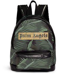 Palm Angels - Banana Leaf Print Canvas Backpack - Lyst