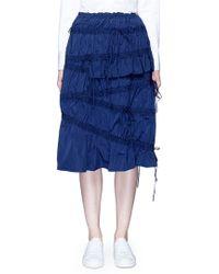 Angel Chen - Drawsing Gathered Midi Skirt - Lyst