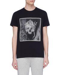 Alexander McQueen - Crown Skull Print T-shirt - Lyst