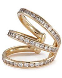 Lynn Ban - 'trilogy' Diamond 14k Yellow Gold Single Ear Cuff - Lyst