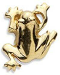 Loquet London - 18k Yellow Gold Frog Charm - Luck - Lyst