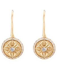 Shamballa Jewels - '10sos' Diamond 18k Gold Sphere Drop Earrings - Lyst