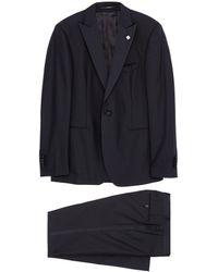 Lardini - Wool Tuxedo Suit - Lyst