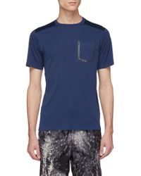Dyne - 'combo' Reflective Trim Mesh Back T-shirt - Lyst