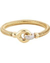 Roberto Coin - 'primavera' Diamond 18k Yellow Gold Bangle - Lyst