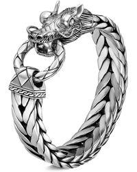 John Hardy - 'legends Naga' Silver Weave Chain Bracelet - Lyst