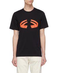 Helmut Lang - 'halloween' Graphic Logo Print T-shirt - Lyst