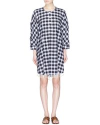 Sonia Rykiel - Faux Pearl Fringe Gingham Check Fil Coupé Kaftan - Lyst
