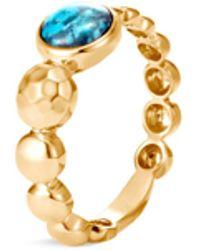 John Hardy - 'dot' Turquoise 18k Yellow Gold Ring - Lyst