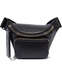 Kara - Small Pebbled Leather Bum Bag - Lyst