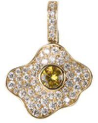 Khai Khai - 'gummy Fried Egg' Diamond Sapphire Clip-on Charm - Lyst