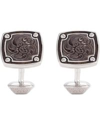 Stephen Webster - 'england Made Me' Mother Of Pearl Rhodium Silver Cufflinks - Lyst