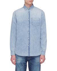 Denham - 'standard' Washed Denim Shirt - Lyst