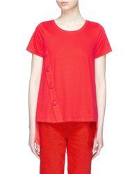Xiao Li - Mesh Back High-low T-shirt - Lyst