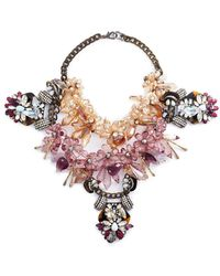 Anabela Chan - 'galatea' Floral Embellished Cluster Bib Necklace - Lyst