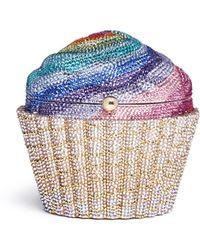 Judith Leiber - Rainbow Cupcake Crystal Pavé Minaudière - Lyst