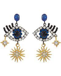 55caec8947811 Lyst - Elizabeth Cole 'lawrence' Glass Crystal Drop Earrings in Pink