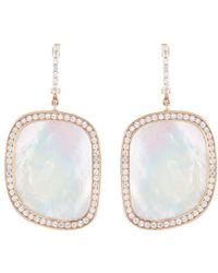 Roberto Coin | 'black Jade' Diamond Mother Of Pearl Drop Earrings | Lyst