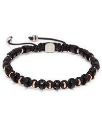 Tateossian - Wooden Disc Bead Macramé Braided Bracelet - Lyst