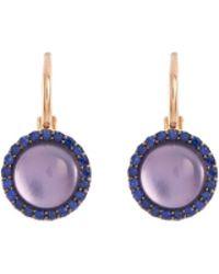 Roberto Coin - 'cocktail' Amethyst Quartz Sapphire 18k Rose Gold Earrings - Lyst