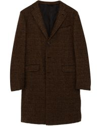 Eidos - Wool Blend Houndstooth Coat - Lyst