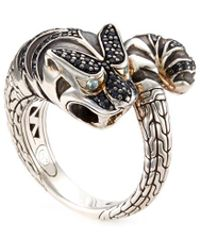 John Hardy - Sapphire Spinel Topaz Silver Macan Bypass Ring - Lyst