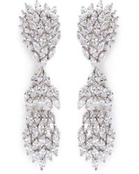 CZ by Kenneth Jay Lane - Cubic Zirconia Marquise Link Drop Earrings - Lyst
