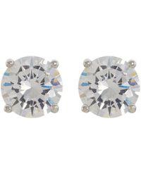 CZ by Kenneth Jay Lane - Cubic Zirconia Stud Earrings - Lyst