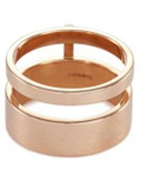 Repossi - 'berbère Module' 18k Rose Gold Two Row Ring - Lyst