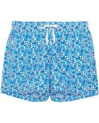 Danward - 'capri' Geometric Print Swim Shorts - Lyst