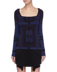 Neil Barrett - Geometric Jacquard Sweater - Lyst
