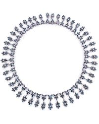 LC COLLECTION - Diamond 18k Gold Floral Necklace - Lyst