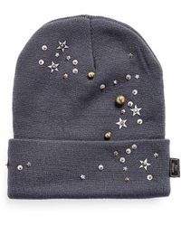 Piers Atkinson - Star Sequin Embellished Beanie - Lyst